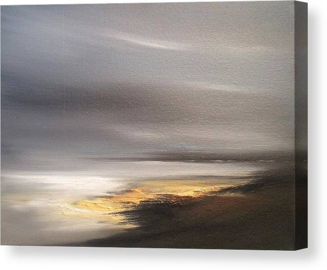 Seascape Canvas Print featuring the painting Distant Shore by Roland Byrne