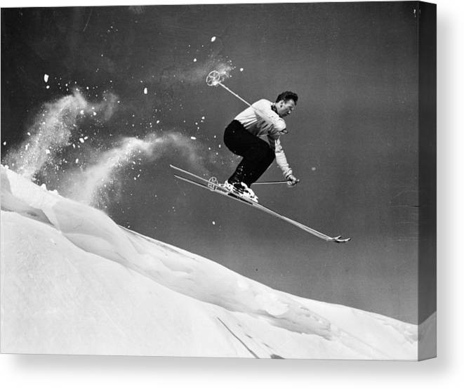 Skiing Canvas Print featuring the photograph Sun Valley Skier by Keystone
