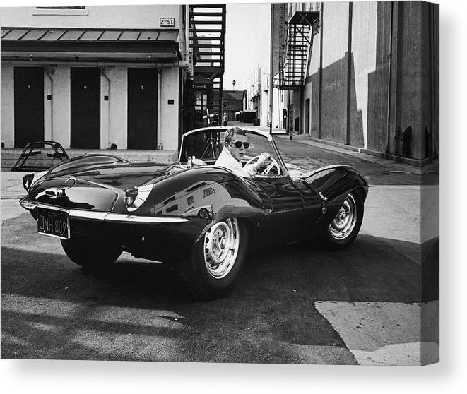 Timeincown Canvas Print featuring the photograph Steve Mcqueen by John Dominis