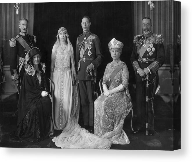 People Canvas Print featuring the photograph Royal Wedding by Hulton Archive