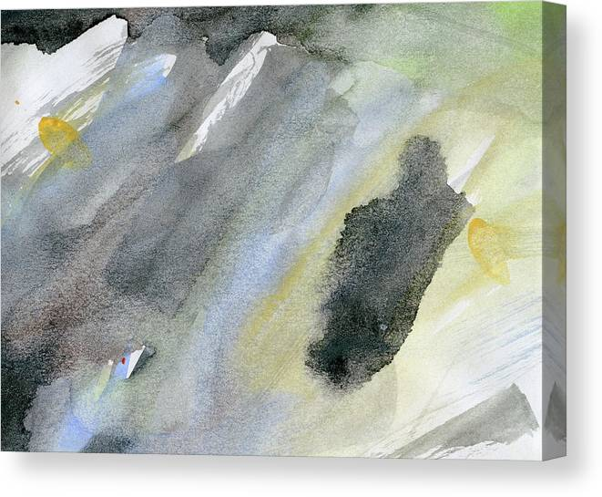 Gouache Canvas Print featuring the digital art Abstract Watercolor Painted by Petekarici