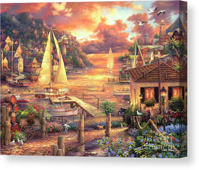 Imaginative Art Canvas Print featuring the painting Catching Dreams by Chuck Pinson