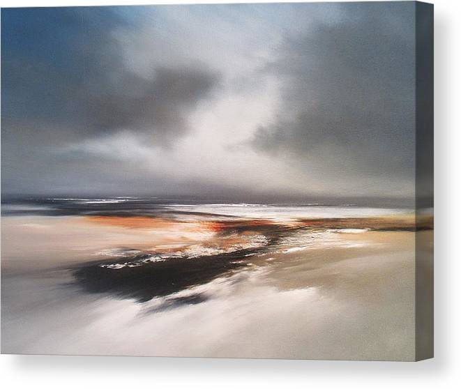 Seascape Canvas Print featuring the painting Coastal Emotion by Roland Byrne