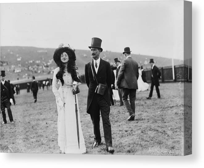 Veil Canvas Print featuring the photograph Goodwood Racegoers by W. G. Phillips
