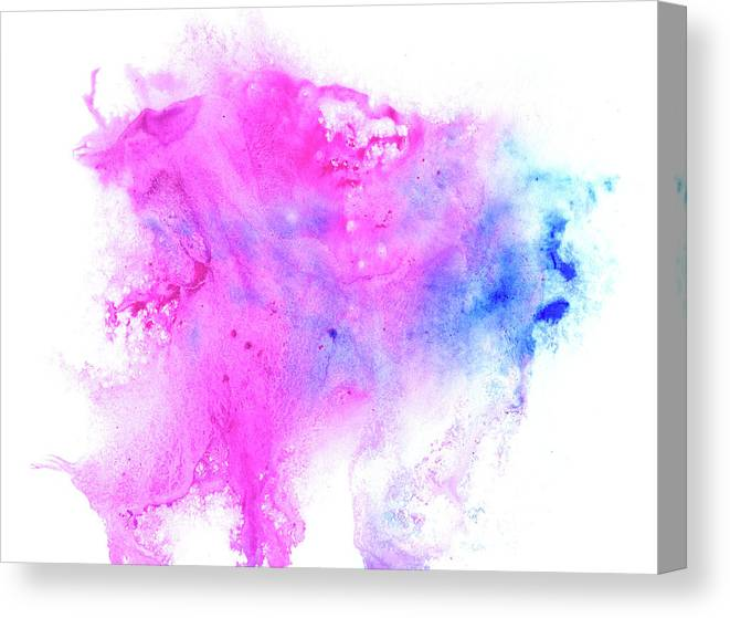 Art Canvas Print featuring the digital art Lilac Blot by Pobytov