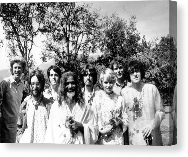 Following Canvas Print featuring the photograph Maharishi And Pop Stars by Keystone Features