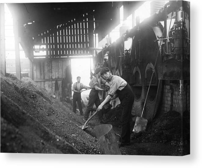 Miner Canvas Print featuring the photograph Mine Ventilation by Topical Press Agency