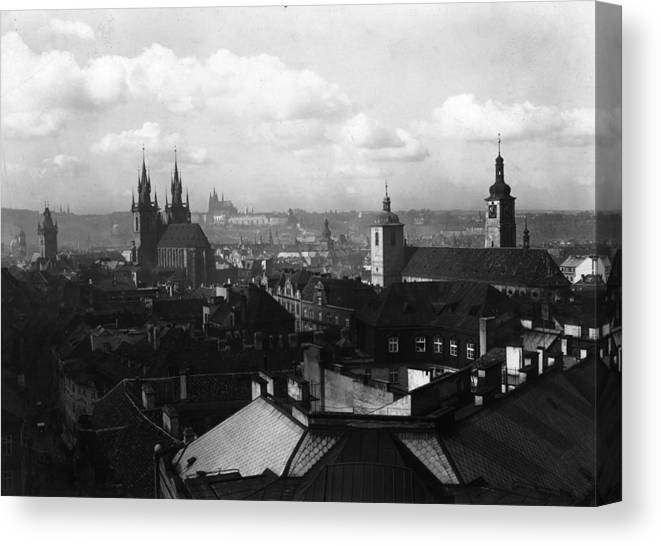 Architectural Feature Canvas Print featuring the photograph Prague by Fox Photos