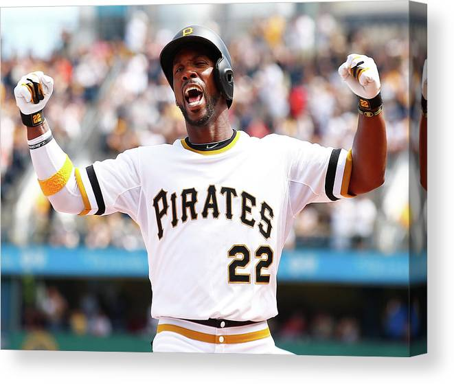 Following Canvas Print featuring the photograph Andrew Mccutchen by Jared Wickerham