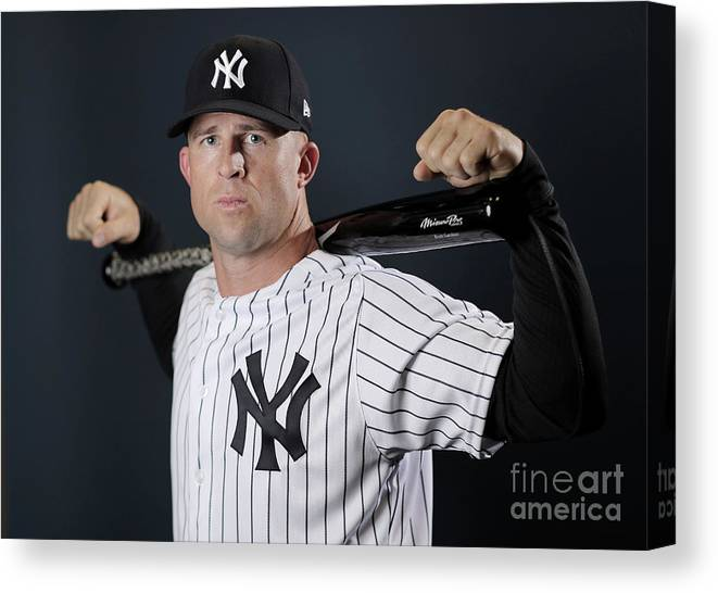 People Canvas Print featuring the photograph Brett Gardner by Elsa