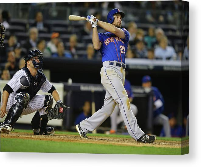 American League Baseball Canvas Print featuring the photograph Daniel Murphy by Al Bello