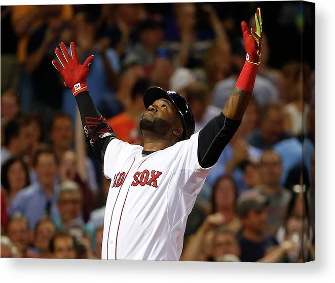 People Canvas Print featuring the photograph David Ortiz by Winslow Townson