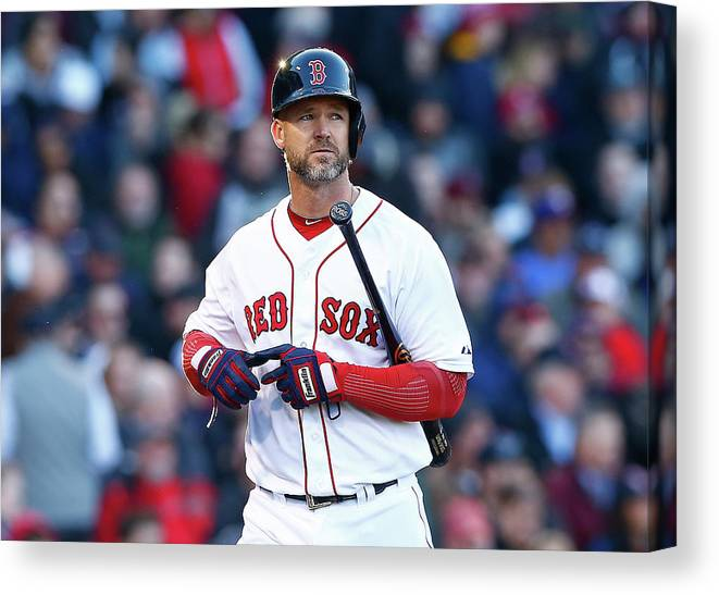American League Baseball Canvas Print featuring the photograph David Ross by Jared Wickerham