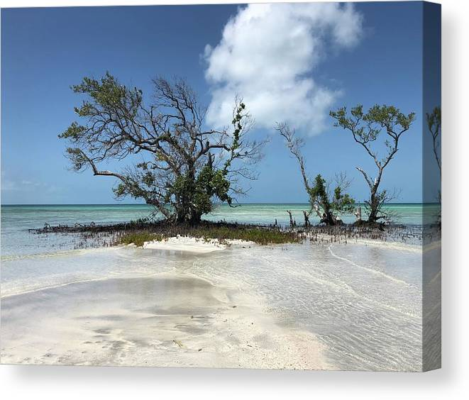 Key West Florida Waters Canvas Print featuring the photograph Key West Waters by Ashley Turner