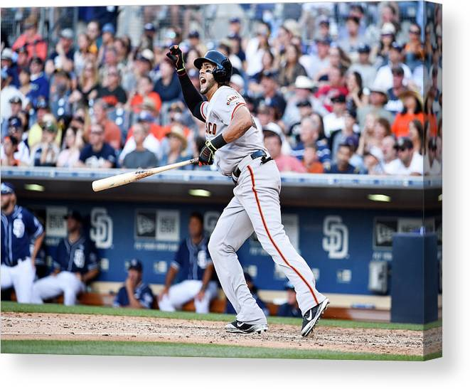 Ninth Inning Canvas Print featuring the photograph Mike Morse by Denis Poroy