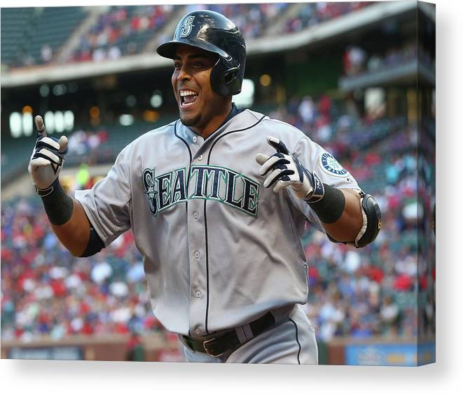 Second Inning Canvas Print featuring the photograph Nelson Cruz by Ronald Martinez