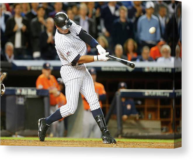 Playoffs Canvas Print featuring the photograph Alex Rodriguez by Jim Mcisaac