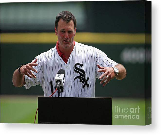 Crowd Canvas Print featuring the photograph Paul Konerko by Jonathan Daniel
