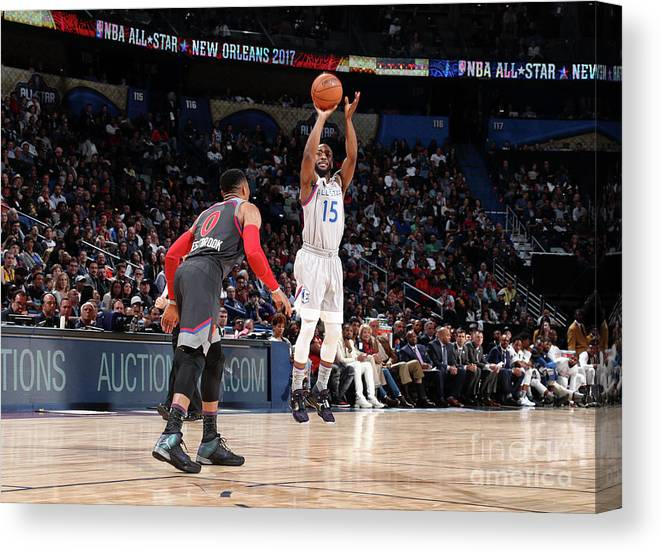 Event Canvas Print featuring the photograph Kemba Walker by Nathaniel S. Butler