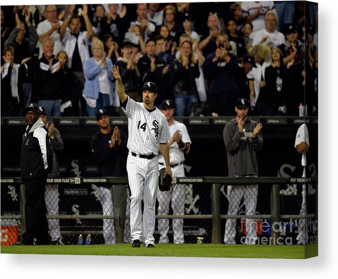 Crowd Canvas Print featuring the photograph Paul Konerko by Brian Kersey