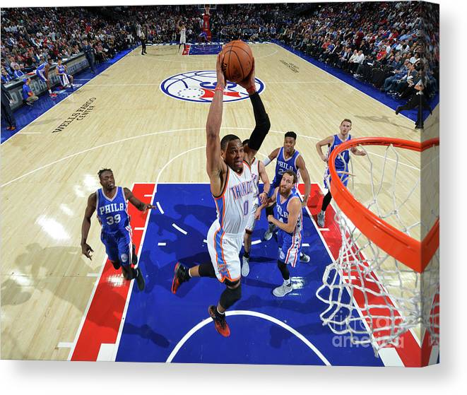 Nba Pro Basketball Canvas Print featuring the photograph Russell Westbrook by Jesse D. Garrabrant