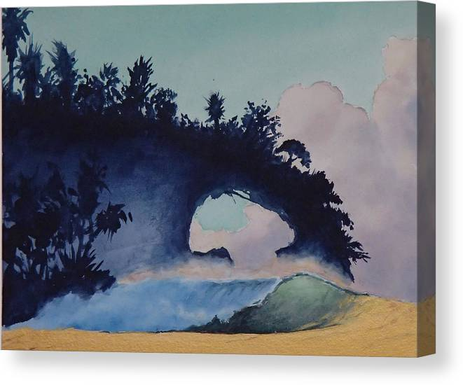 Ocean Canvas Print featuring the painting Untitled 4 by Philip Fleischer
