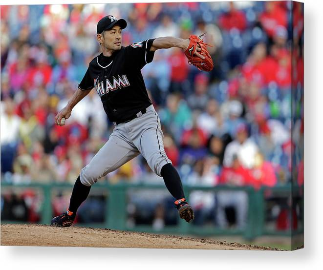 People Canvas Print featuring the photograph Ichiro Suzuki by Adam Hunger