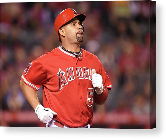 People Canvas Print featuring the photograph Albert Pujols by Harry How