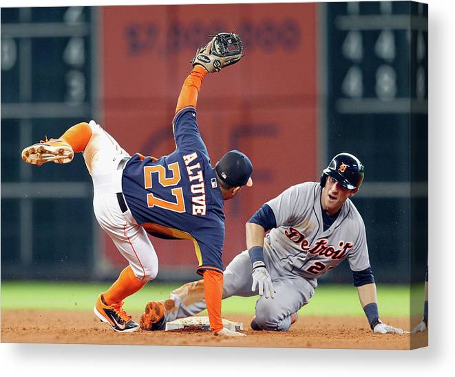 Andrew Romine Canvas Print featuring the photograph Andrew Romine by Bob Levey