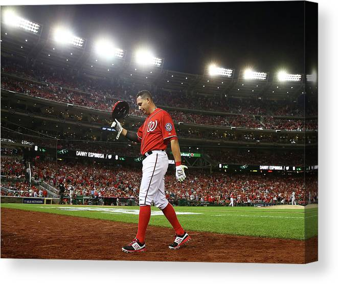 Ninth Inning Canvas Print featuring the photograph Asdrubal Cabrera by Elsa