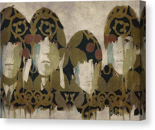 The Beatles Canvas Print featuring the mixed media Beatles For Sale by Paul Lovering