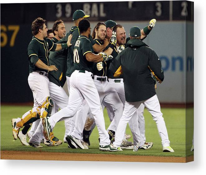 People Canvas Print featuring the photograph Billy Butler by Ezra Shaw