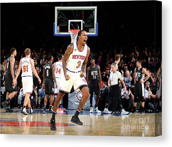 Nba Pro Basketball Canvas Print featuring the photograph Brandon Jennings by Nathaniel S. Butler