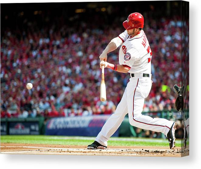 St. Louis Cardinals Canvas Print featuring the photograph Bryce Harper by Rob Tringali