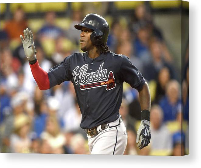 Three Quarter Length Canvas Print featuring the photograph Cameron Maybin by Harry How
