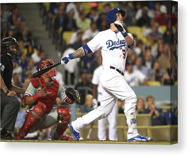 People Canvas Print featuring the photograph Carlos Ruiz and Yasmani Grandal by Harry How