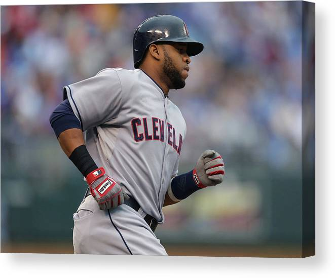 Second Inning Canvas Print featuring the photograph Carlos Santana by Ed Zurga