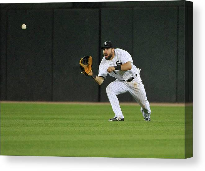 American League Baseball Canvas Print featuring the photograph Chase Headley and Adam Eaton by David Banks