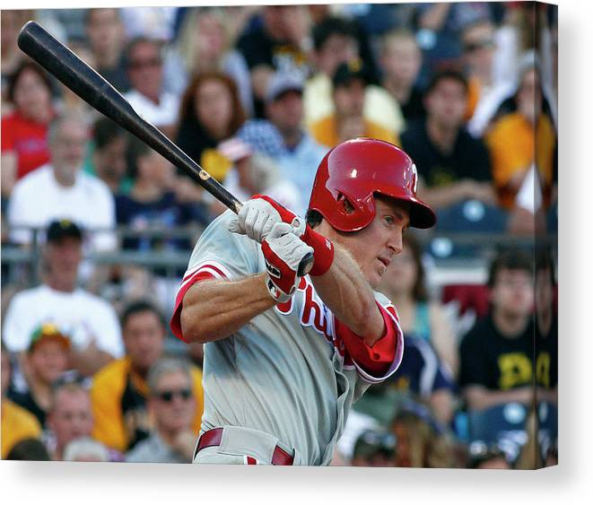 Professional Sport Canvas Print featuring the photograph Chase Utley by Justin K. Aller