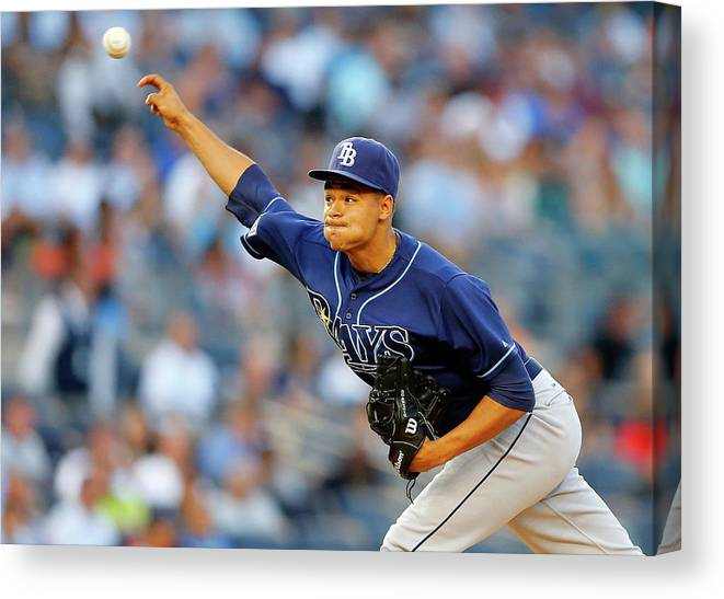 Second Inning Canvas Print featuring the photograph Chris Ray by Jim Mcisaac
