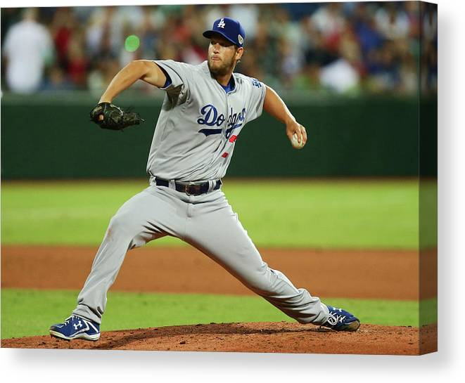 People Canvas Print featuring the photograph Clayton Kershaw by Matt King