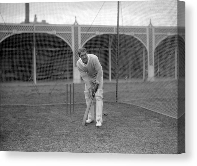 People Canvas Print featuring the photograph Cricket - South Africa in British Isles - South Africa Nets - Lord's by PA Images