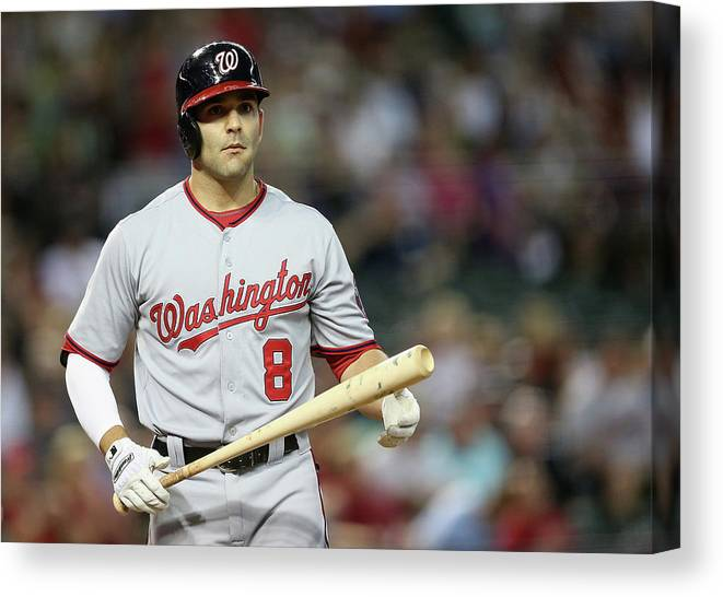 National League Baseball Canvas Print featuring the photograph Danny Espinosa by Christian Petersen
