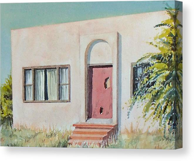 House Canvas Print featuring the painting Once was a Home by Philip Fleischer