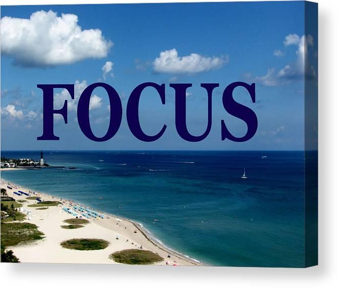 Focus Canvas Print featuring the digital art Focus by Corinne Carroll