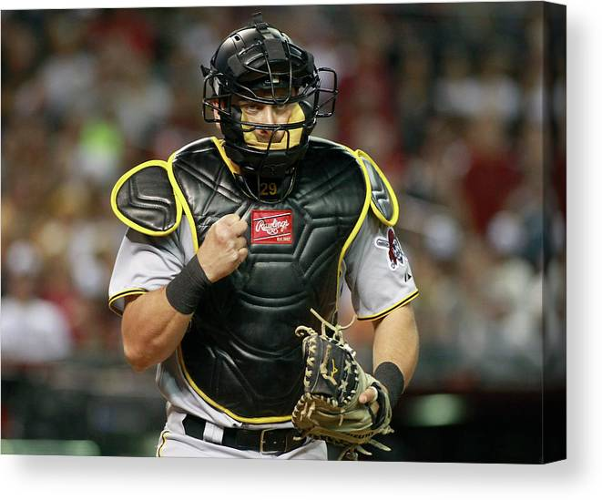 Baseball Catcher Canvas Print featuring the photograph Francisco Cervelli by Ralph Freso