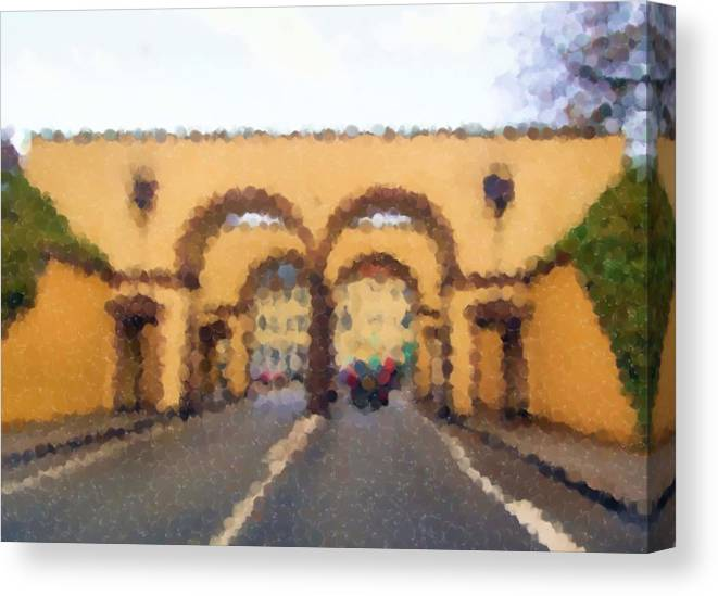 Fredericia Gate Canvas Print featuring the mixed media Fredericia Gate by Asbjorn Lonvig