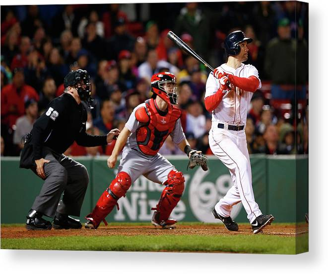 American League Baseball Canvas Print featuring the photograph Grady Sizemore by Jared Wickerham