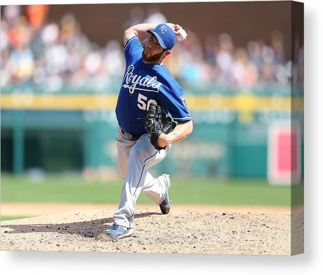 Ninth Inning Canvas Print featuring the photograph Greg Holland by Leon Halip