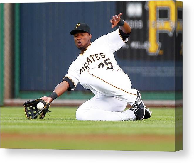 People Canvas Print featuring the photograph Gregory Polanco by Jared Wickerham